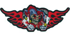Jester Flames patch - Aufnäher Clown Flammen - chevron El Bufón De Las Llamas - нашивка Шута и Пламя