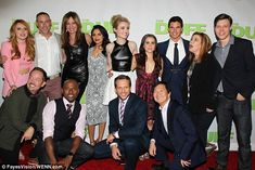The cast: (L-R) Bella Thorne, Allison Janney, Bianca Santos, Skyler Samuels, Mae Whitman, ...