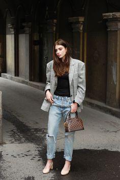 H&M Conscious Exclusive SS17 longsleeve, Levi's 501 CT jeans, Zara Studio  blazer, Louis Vuitton  Alma BB bag, Ryłko  shoes