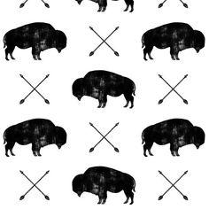 Buffalo + Arrows Fabric - Distressed Buffalo Arrows By Littlearrowdesign - Southwestern Buffalo Cotton Fabric By The Metre by Spoonflower Minky Fabric, Cotton Twill Fabric, Satin Fabric, Custom Fabric, Quilting Fabric, Arrow Fabric, Double Gauze Fabric, Fabric Swatches, Spoonflower