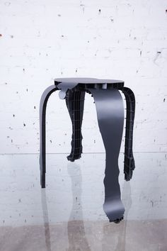 """Stool """"self portrait in five pieces"""", steel powder-coated, 2017 Hunter Boots, My Works, Rubber Rain Boots, Stool, Powder, Portrait, Face Powder, Portrait Illustration, Chairs"""
