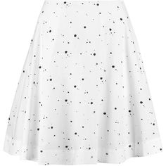 Marc by Marc Jacobs Printed cotton-blend mini skirt (7.320 RUB) ❤ liked on Polyvore featuring skirts, mini skirts, white, white short skirt, marc by marc jacobs, below the knee skirts, white skirt and mini skirt