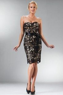 Black / Nude 17-1467 Lace Cocktail Dress
