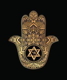 Hamsa Hand of Fatima - ilustración de arte vectorial