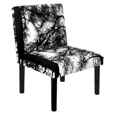Vallila Armless Chair - Trees Tallit, Armless Chair, Decor Interior Design, Minimalism, Accent Chairs, Dining Chairs, Black And White, Modern, Trees