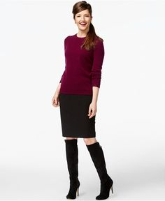 Charter Club Cashmere Crew-Neck Sweater In 24 Colors, Only at Macy's - Cashmere Shop - Women - Macy's