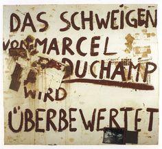 Joseph Beuys, « Das Schweigen von Marcel Duchamp wird überbewertet » (Le silence de Marcel Duchamp est surestimé), 1964.