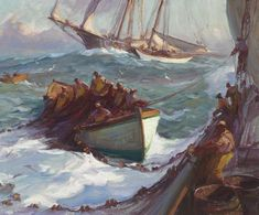 """Out of Gloucester, Massachusetts,"" Emile Albert Gruppe, oil on canvas, 30 x 36"", Private collection."