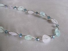 Pastel Whimsical Sea Glass Necklace  Sea Glass by seaglassin