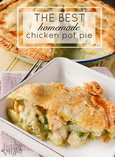 This recipe for The Best Homemade Chicken Pot Pie pot pies, so you can do one meat and one veggie, or you can make one and freeze the other for later. Homemade Chicken Pot Pie, Cream Of Chicken Soup, Chicken Recipes, Bacon Avacado, Chicken Bacon, Shredded Chicken, Family Fresh Meals, Frugal Meals, Frugal Recipes