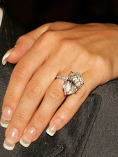 Victoria Beckham As if the manicure didn't give it away (yikes!), this snap of Victoria Beckham's marital bling was from way back in 2005, before she upgraded...