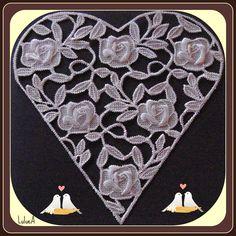 pergamano coeur carte mariage