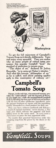 FOOD: Campbell's Soup, 1917 advertisement