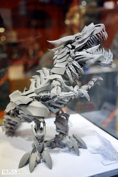 Kid's Logic Mecha Nation Grimlock Age of Extinction Grimlock Transformers, Transformers Bumblebee, Transformers Art, Record Display, Custom Action Figures, Collectible Figurines, Displaying Collections, Legos, Amazing Toys
