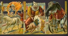 Circus, Part 2 ~ Vintage advertising scrap