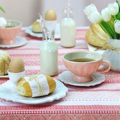 Tisch decken zum Frühstück mit Tischläufer von Sander.  http://www.sander-tischwaesche.de/advanced_search_result.php?keywords=brisbane