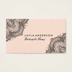 10 Best Henna Business Card Images Business Cards Visit Cards