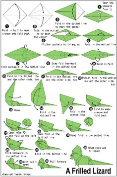 Perfect for Sticky Note Origami. Read more about Learning Origami Origami Guide, Origami Diy, Origami Modular, Origami Paper Folding, Origami And Kirigami, Paper Crafts Origami, Origami Design, Oragami, Origami Lizard