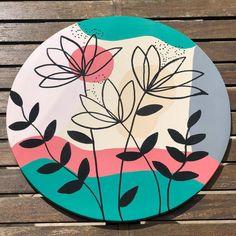 Canvas Painting Designs, Dot Art Painting, Diy Canvas Art, Ceramic Painting, Diy Painting, Painting On Wood, Organic Art, Minimalist Painting, Abstract Line Art