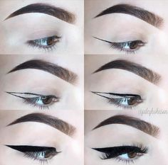 Make-up sieht Buch - makeup looks book Make-up sieht Buch Eyebrow Makeup Tips, Eye Makeup Steps, Diy Makeup, Makeup Inspo, Eyeshadow Makeup, Makeup Inspiration, Asian Eye Makeup, Makeup Eye Looks, Eyeliner Shapes