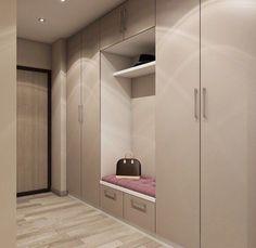 Nice hallway design What would you change? - Design Cointrend News Wardrobe Room, Wardrobe Design Bedroom, Flur Design, Hall Design, Home Entrance Decor, House Entrance, Hallway Designs, Closet Designs, Room Interior