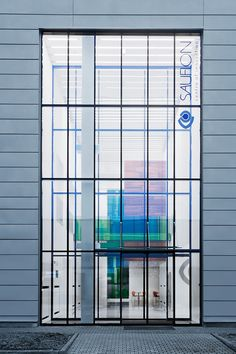 Image 11 of 39 from gallery of Sauflon Centre of Innovation / Foldes Architects. Photograph by Tamas Bujnovszky Glass Bridge, Art Nouveau, Retail Facade, Glass Facades, Facade Architecture, Shop Fronts, Architectural Elements, Windows And Doors, Building Design