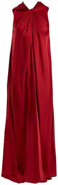 ELIZABETH AND JAMES Cavan twisted-front satin-twill dress