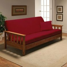 Stretch Jersey Full Futon Cover in Red by Madison Home. $48.29. jer-fut-rd Features: -Red.-Fits a full size futon mattress.-Soft and comfortable jersey fabric.-Easy to take off and put on.-Machine wash and dry. Construction: -Constructed of 95pct polyester and 5pct spandex material. Collection: -Stretch Jersey collection.