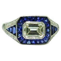 1STDIBS.COM Jewelry & Watches - Sophia D - Sophia D Diamond & Sapphire Ring - Tesori Belli