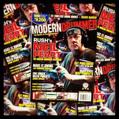Happy birthday to Rush drummer Neil Peart, seen here on the December 2011 cover of Modern Drummer magazine; available in print and digitally (iTunes/Amazon). #drums #drummers #drumming #rush #neilpeart