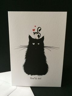 You'll Do romantic card valentines by BadgerandSquidge on Etsy