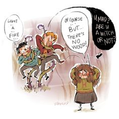 """""""Devil's Snare, Devil's Snare . what did Professor Sprout say? — it likes the dark and the damp —' 'So light a fire! 'Yes — of course — but there's no wood!' Hermoine cried, wringing her hands. Harry Potter Jk Rowling, Harry Potter Comics, Harry Potter Magic, Harry Potter Jokes, Harry Potter Anime, Harry Potter Fan Art, Harry Potter Universal, Harry Potter Fandom, Dark Harry"""