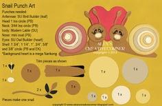 Alex's Creative Corner: Snail punch art instructions