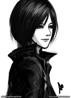 Ada Wong Resident Evil 6 Portrait by borjen-art