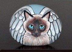 Angel cat. Would be nice adapted for friends with pets over the Rainbow Bridge.