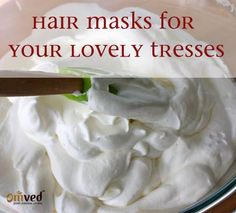Hair-packs can keep your lovely tresses healthy, shining and nourished. Here is an easy hair mask that you can use every week to tame your beautiful tresses.  Whisk 1/2 cup of sour cream or plain yogurt very well and massage it into damp hair and let sit for 20 minutes. Rinse with warm water, followed by cool water, then shampoo hair as you normally would. You can use this mask every week.