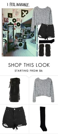 """""""invisible"""" by weirdestgirlever ❤ liked on Polyvore featuring Bodkin"""