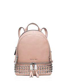 Michael Michael Kors Extra Small Rhea Zip Studded Backpack