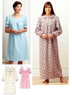 Sleepwear Patterns - Kwik Sew Nightgowns Pattern
