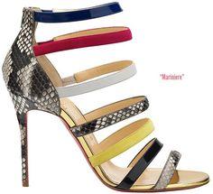 pinterest.com/fra411 #shoes #heels Christian-Louboutin-Spring-2014-Mariniere-Sandal