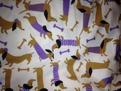 Wiener Dogs on Flannel - My new pillow cases