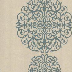 Kenneth James Iman Medallion Wallpaper Aqua - 601-58477