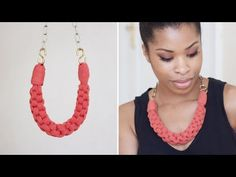 DIY Straight Knot Necklace.