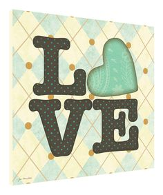 Another great find on #zulily! Blue 'Love' Wall Art by Canvas Kudos #zulilyfinds