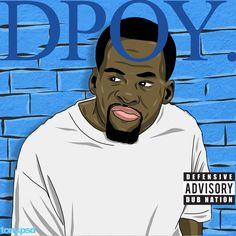 "Draymond Green's ""DPOY"" cover art  inspired by Kendrick Lamar's album  ""DAMN"" featuring the Warriors Draymond Green. Vector artwork by Tony.psd"