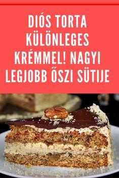 Hungarian Desserts, Cherry Cake, Cake Cookies, Tart, Sweets, Snacks, Baking, Recipes, Cakes