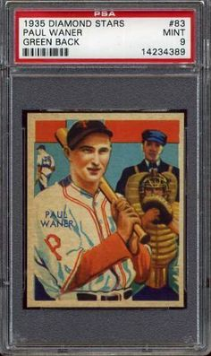 1935 Diamond Stars PAUL WANER #83 Pirates - Green Back - PSA 9 by Diamond Stars. $3.50. .