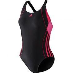 Maillot de bain 1 pièce sport natation femme adidas - Noir- Vue 1 Maillot  Bain 8a97c705458