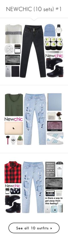 """""""NEWCHIC (10 sets) #1"""" by mia5056 ❤ liked on Polyvore featuring American Apparel, Daniel Wellington, The Fine Bedding Company, FREDS at Barneys New York, Christofle, vintage, women's clothing, women, female and woman"""