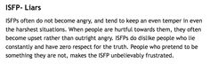 ISFP's views on Liars.